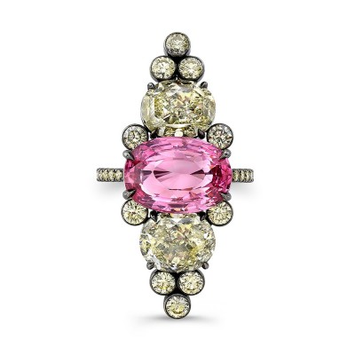 Hot Pink Spinel Ring