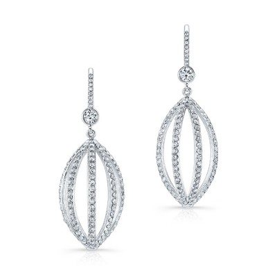 White Diamond Cage Earrings