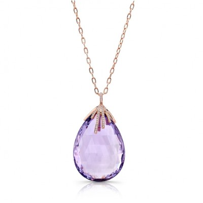 Amethyst Briolette Necklace
